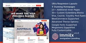 ImmiEx – Immigration and Visa Consulting WordPress Theme
