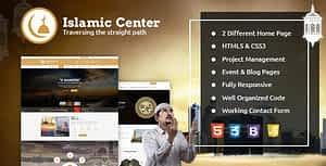 Islamic Center Responsive HTML Template