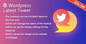 Latest Tweet Plugin for WordPress