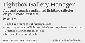 Lightbox Gallery Manager – WordPress Plugin