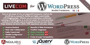 LiveCom for WordPress – A Live Blogging Plugin