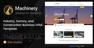 Machinery – Factory Business HTML Template