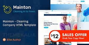 Mainton – Cleaning Company HTML Template