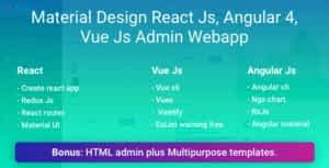 Material Design   Admin Web App and HTML Template