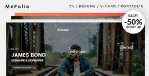Mefolio Ajax Resume WordPress Theme