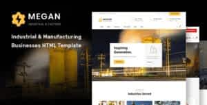 Megan – Industrial & Manufacturing Businesses HTML Template