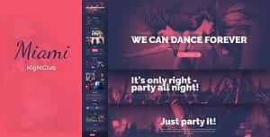 Miami – Night Club HTML Template