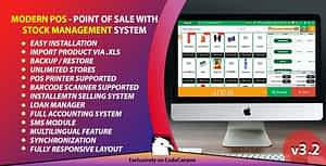 Modern POS – Point of Sale with Stock Management System