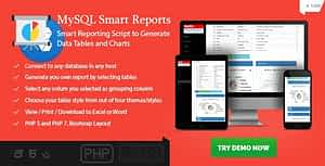 MySQL Smart Reports – Online Report Generator with Existing Data.