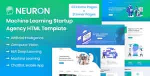 Neuron – Machine Learning & AI Startups HTML Template