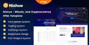 Nishue – Bitcoin and Cryptocurrency HTML Template