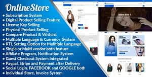 Online Store – Subscription Based Multi Vendor eCommerce Platform