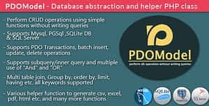 PDOModel – Database abstraction and helper PHP class