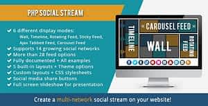 Download Free PHP Social Stream PHP Script