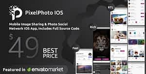 PixelPhoto IOS – Mobile Image Sharing & Photo Social Network