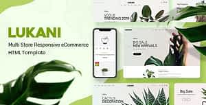 Plant and Flower Shop eCommerce HTML Template – Lukani