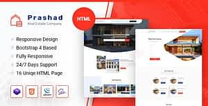 Prashad – Real Estate HTML Template