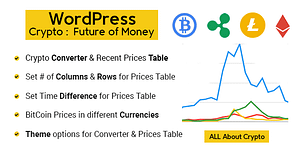 Premium Cryptocurrency Widgets, Converter and Live Prices Tables | WordPress Crypto Plugin