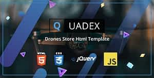 Quadex – Drones Store Html Template