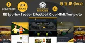 RSSports – Soccer & Football Club HTML Template