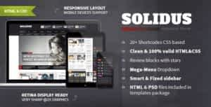 Solidus – Clean Magazine HTML Template