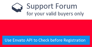 Support Forum with Envato License API