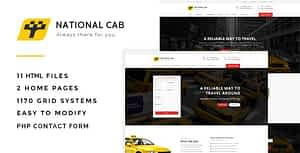 Taxi Cab – Responsive HTML Template