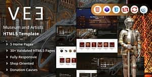 Vee | Museum and Artists HTML Template