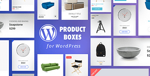 WordPress Product Boxes Plugin with Layout Builder