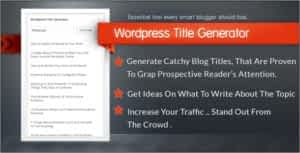 WordPress Title Generator Plugin