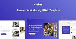 Xzofina – Business And Marketing HTML Template