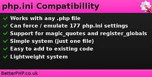 Download Free php.ini Compatibility PHP Script