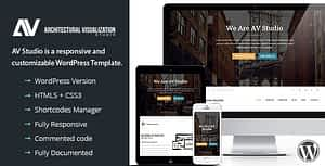 AV Studio – One Page WordPress Theme