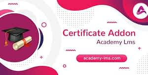 Academy LMS Certificate Addon