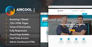 AirCool – Conditioning And Heating HTML Template with Visual Builder