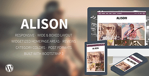 Alison – Responsive WordPress News Theme