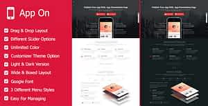 App on – Landing Pages WordPress Theme