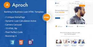 Aproach – Banking & Business Loan Bootstrap-4 HTML Template