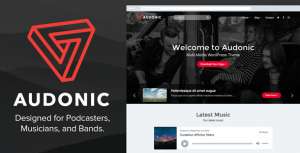 Audonic – Music & Podcasting WordPress Theme