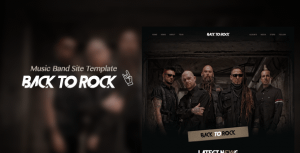 Back to Rock – Creative Music Band Website Template