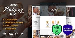 Bakery, Sweets Cafe & Pastry Shop WordPress Theme