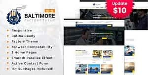 Baltimore Factory – Industrial Business HTML5 Template
