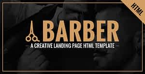 Barber – A Creative Landing Page HTML Template