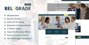 Belgrade – Consulting & Business HTML Template