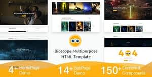 Bioscope – A Complete Video and Film Agency HTML Template