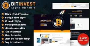 Bitcoin Crypto Currency HTML Template