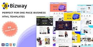 Bizway – One Page HTML Template