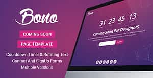 Bono – Coming Soon Page Template