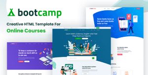 Bootcamp – Online Courses and Educational Site Template