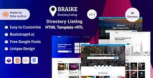 Braike – Directory & Listing HTML Template